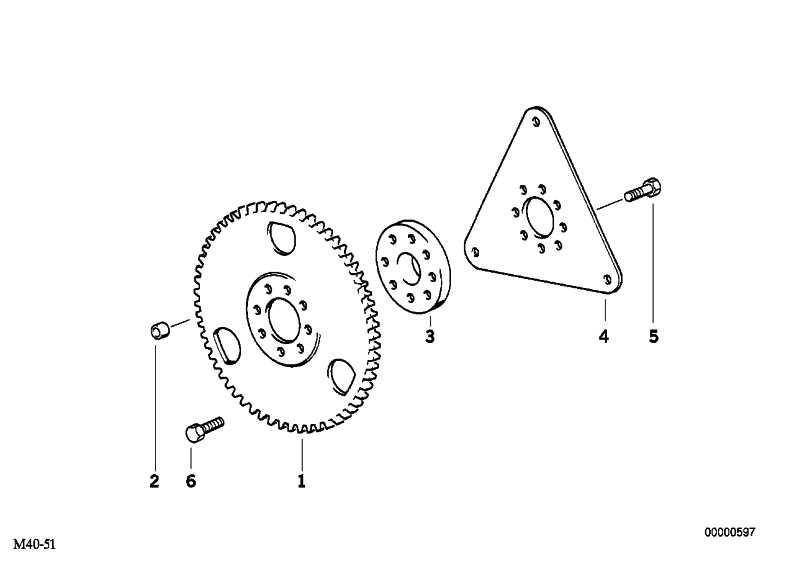 Schwungrad  3er 5er 7er X3 Z3 Z4  (11221717383)