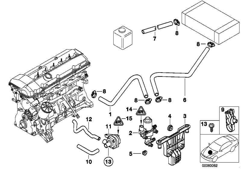 Schlauch Motorvorlauf-Wasserventil  5er  (64218378368)
