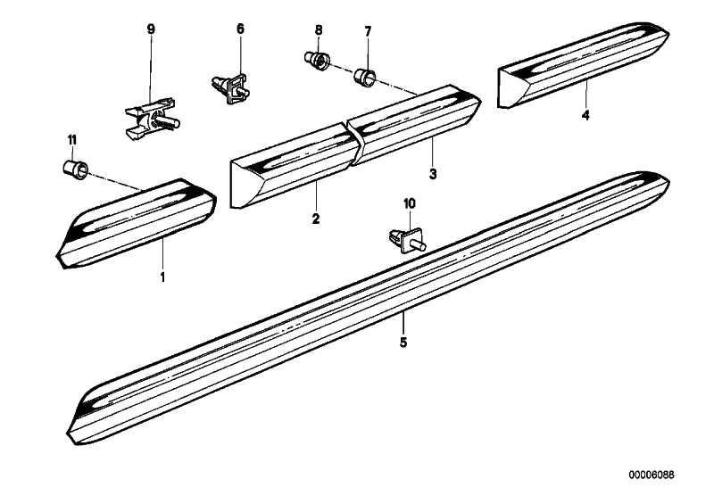 Stossleiste Einstieg links SCHWARZ         3er  (51131932803)