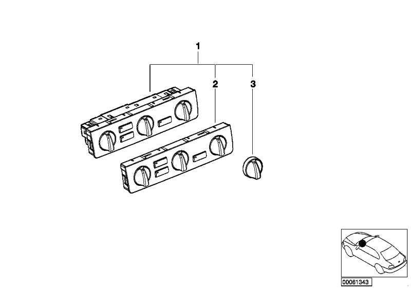 Frontplatte Bedienteil Klimaanlage  3er  (64116904311)