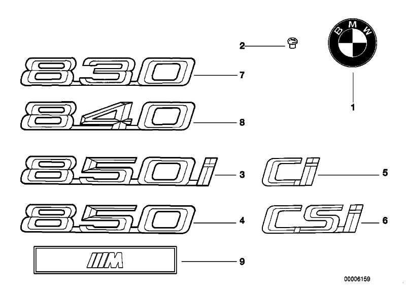 BMW Emblem  3er 5er 7er 8er X5 Z3 Z8  (51148123297)