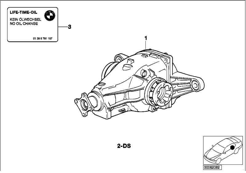 Austausch Hinterachsgetriebe mit Sperre I=38:11=3,45-V  3er  (33101214845)