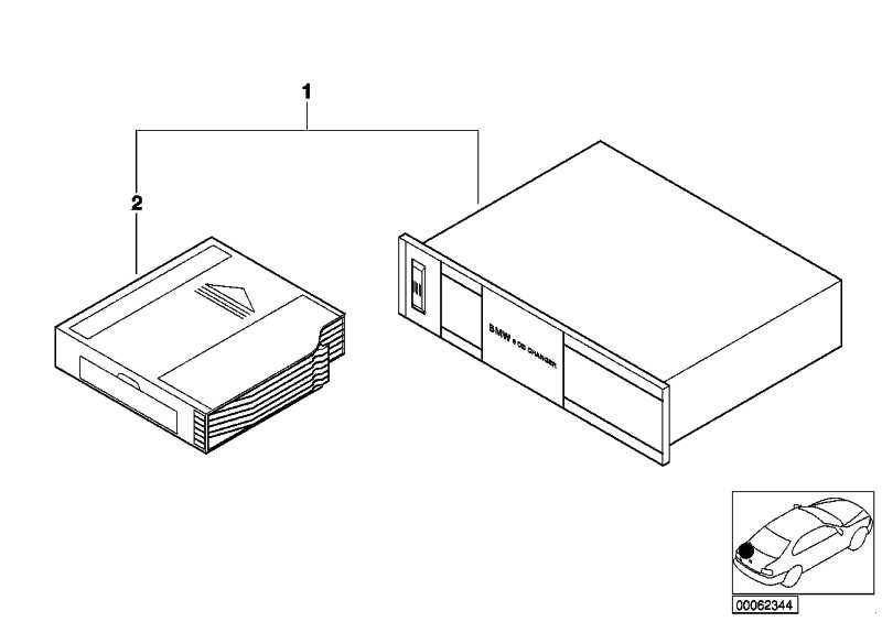 Austausch BMW 6 CD Changer AI  3er 5er X5  (65126908950)