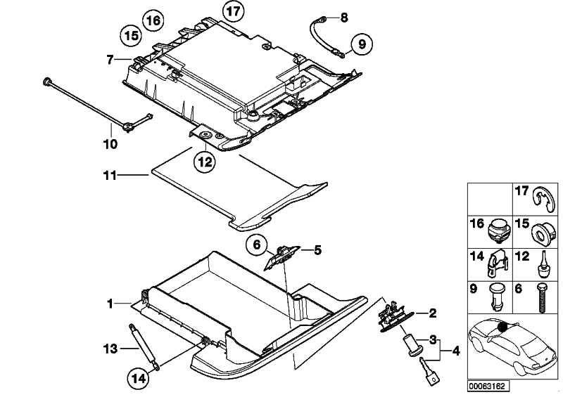 Verschluss Handschuhkasten Oberteil  3er Z8  (51168262569)