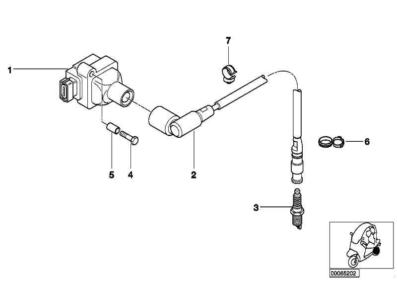 Zündkabel mit Stecker   (12131343021)