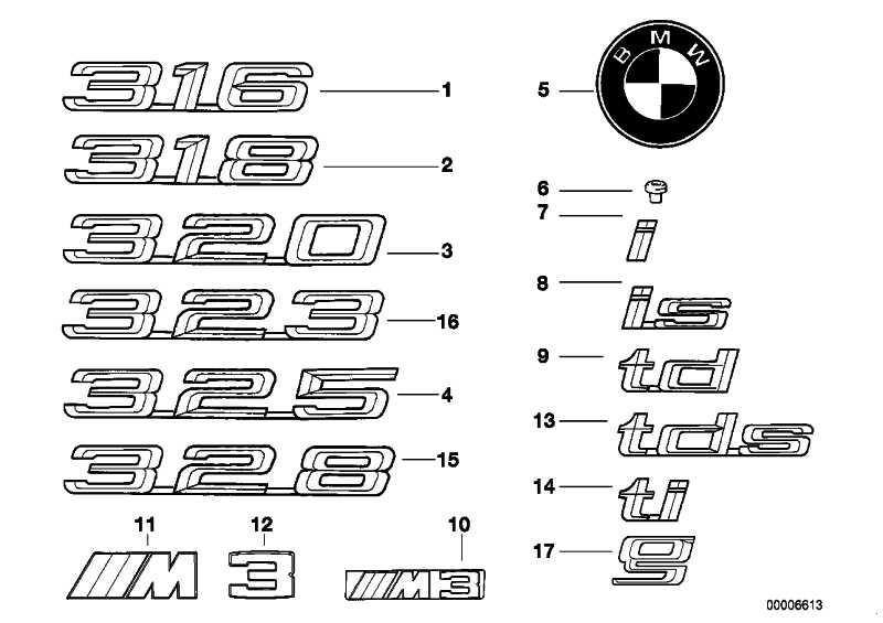 Emblem geklebt hinten -TI-            3er  (51148170183)