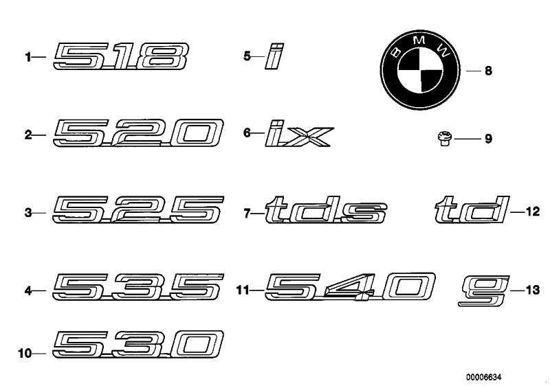 """Emblem geklebt hinten """"IX""""            5er  (51148122482)"""