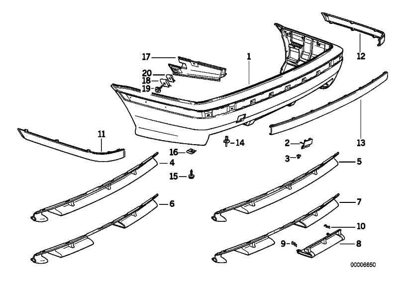 Heckschürze lackiert CODE - MET.     3er  (51129066208)