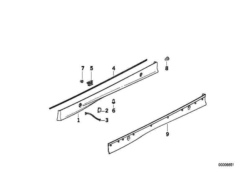 Klappe Wagenheberaufnahme grundiert  3er 5er 7er X5 Z3  (51712234084)