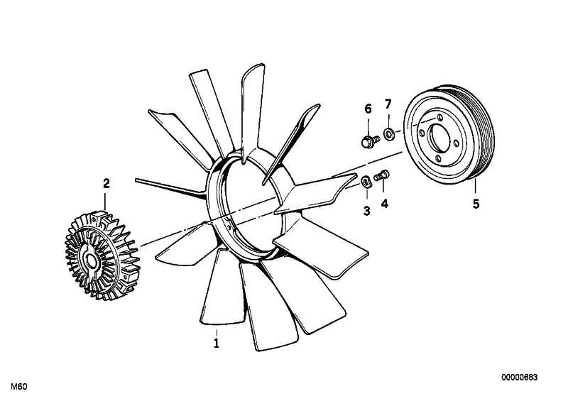 Lüfterkupplung  3er 5er 7er X5 Z3  (11527505302)