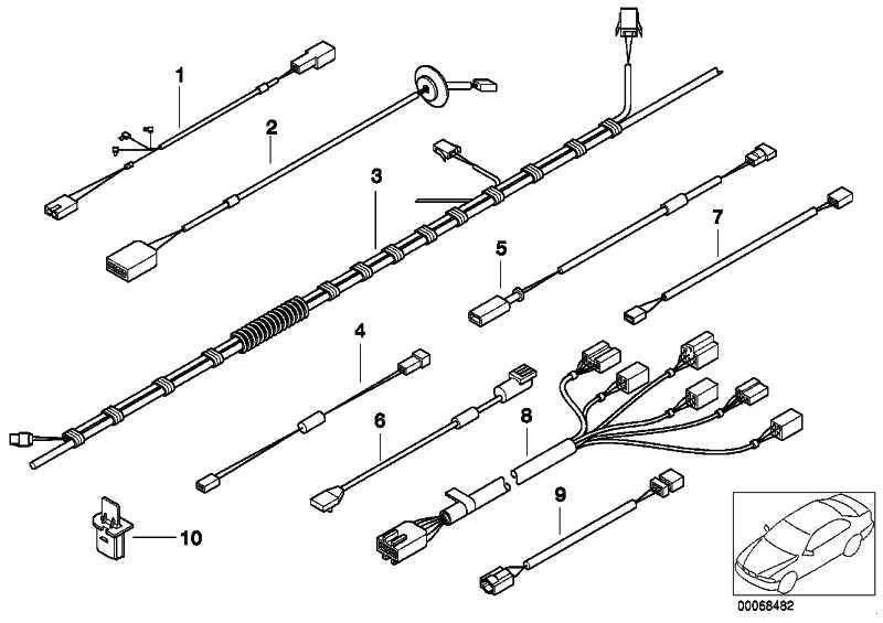 Kabelsatz Airbag/Gurtstrammer  Z3  (61128407410)