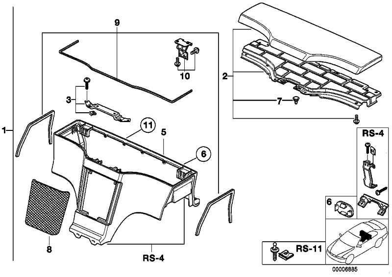 Ablagebox Subwoofer SCHWARZ         Z3  (51168410988)