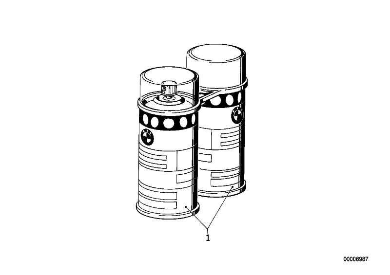 Lackspray Set Alpinweiss III uni 2X150ML  300  (51911052275)