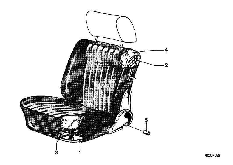 Federkern Sitz vorne   3er  (52101853341)