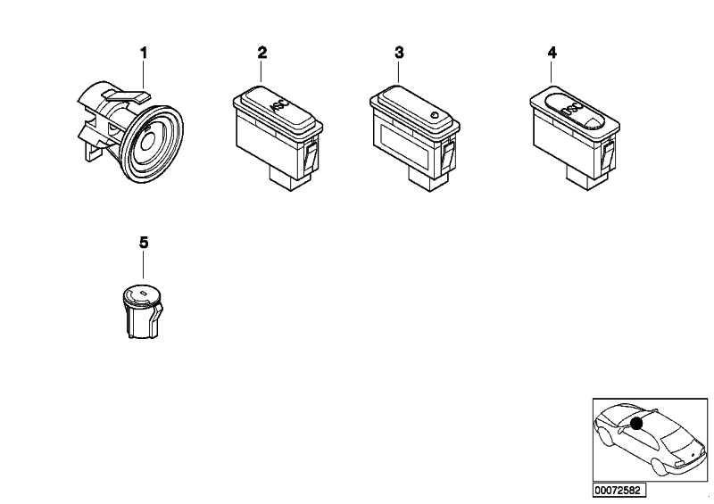 Schalter Heizbare Heckscheibe  Z3  (61318381912)