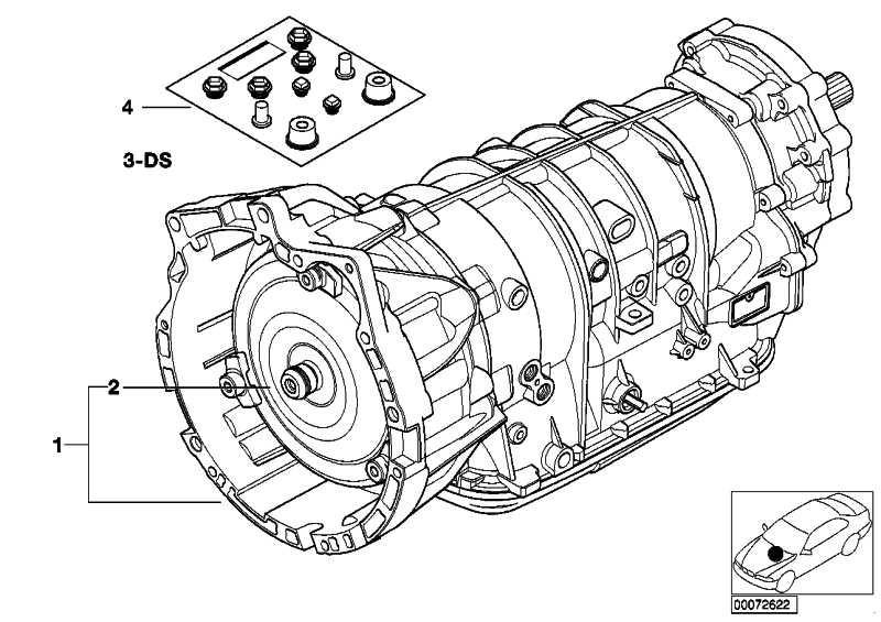 Austausch Automatikgetriebe EH A5S 390R - XF X5  (24007508857)