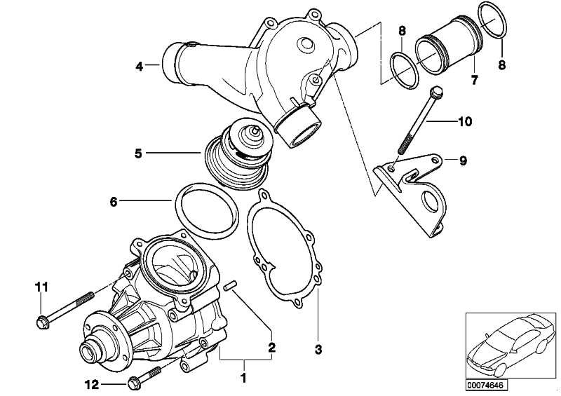 Kühlmittelpumpe mechanisch  3er  (11517838118)
