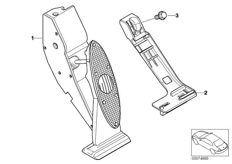 Adapterplatte Fahrpedalmodul  5er 7er X5 Z8 MINI  (35426772702)