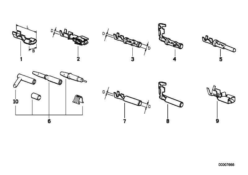 Doppelflachfederkontakt 0,5-1,0MM²(SN) 1er 3er 5er 6er 7er 8er X1 X3 X5 Z3 Z4 Z8  (61131370691)