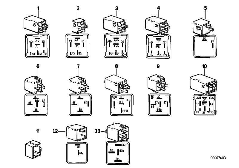 Relais Wechsler kieferngrün  3er 5er 7er 8er  (61358350566)