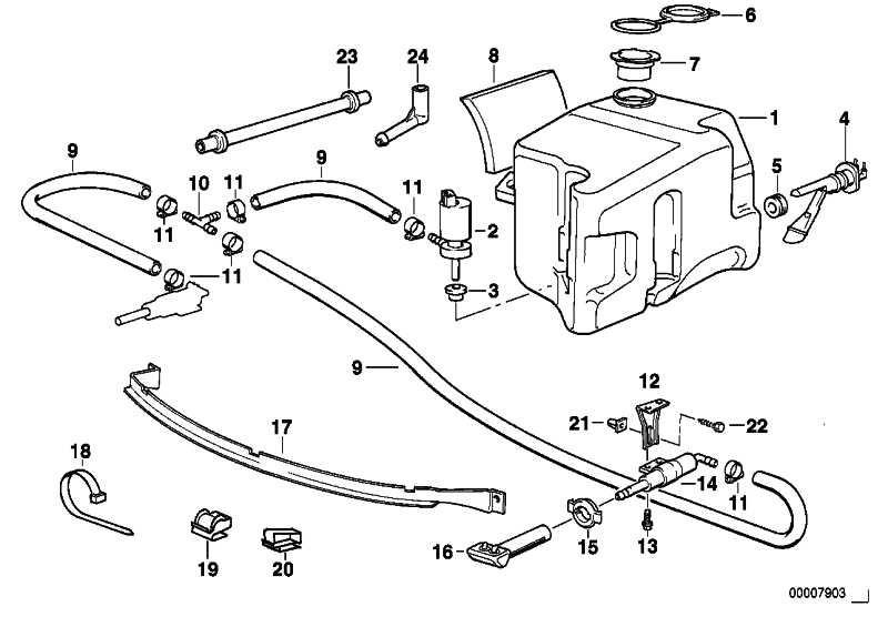Flüssigkeitsbehälter mit Niveauschalter 5L              3er Z3  (61678366420)