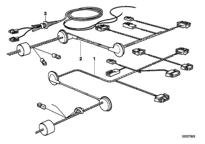 Rep.-Kabelsatz Heckklappe rechts  5er  (61108365702)