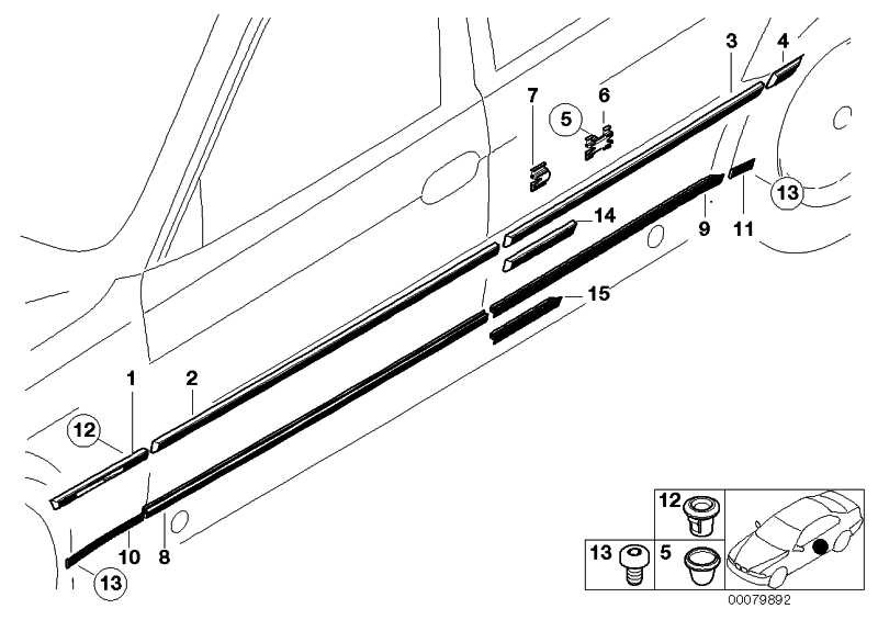 Stossleiste Tür vorne rechts CHROM           7er  (51138125350)
