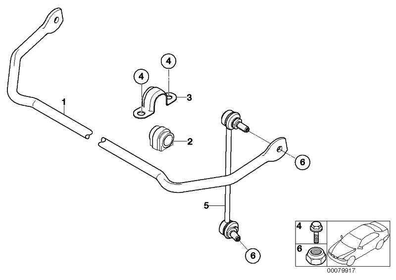 Gummilager Stabilisator D=16MM MINI  (33556754823)