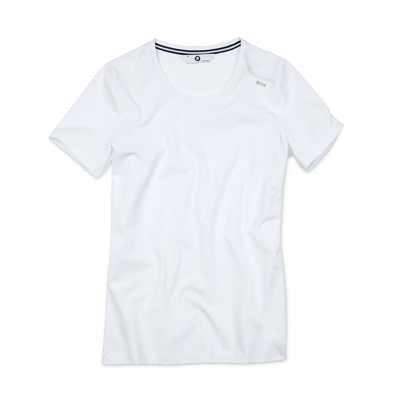 BMW T-Shirt Rundhals Damen weiß