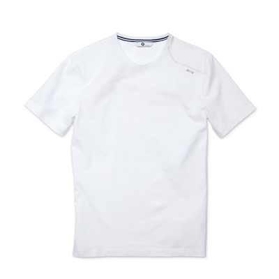BMW T-Shirt Rundhals Herren weiß