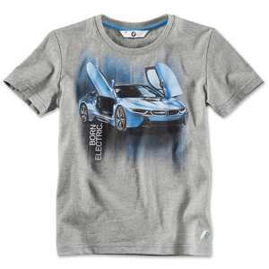 BMW i Kinder T-Shirt i8 Druck grau-melange