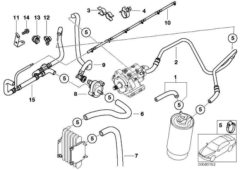 Kraftstoffvorlaufleitung  3er  (13537787544)