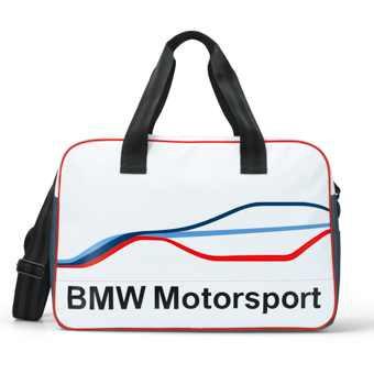 BMW Motorsport Sporttasche weiß/blau/silber