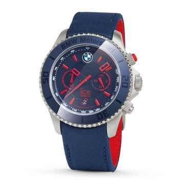 BMW Motorsport ICE Watch Steel Chrono blau/rot