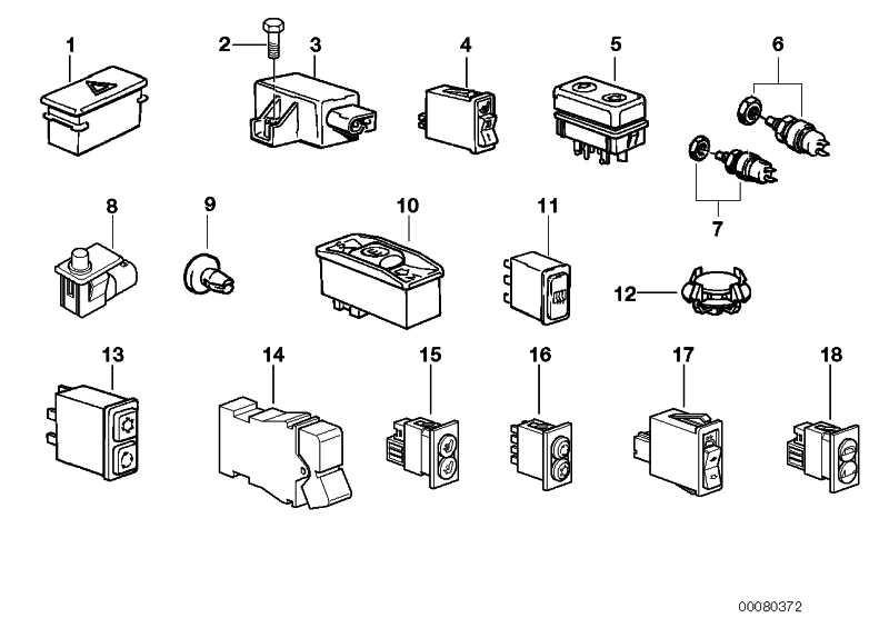 Schalter Klimaanlage/Umluft  Z3  (61311380310)