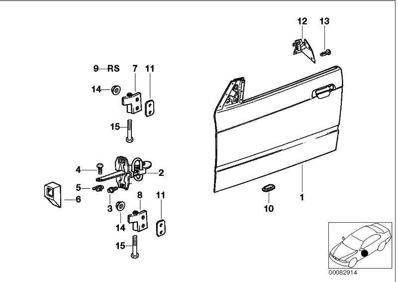 Tür Aluminium vorne links  3er  (41518188861)
