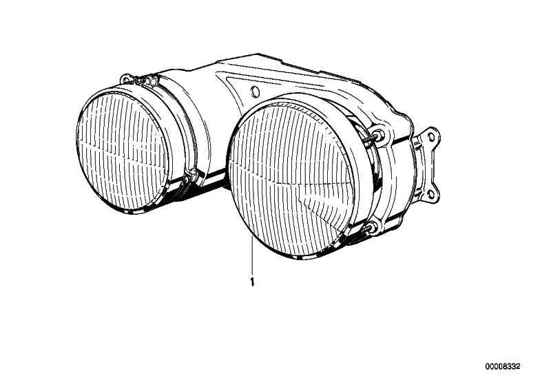 Doppelscheinwerfer links  5er  (63121367075)