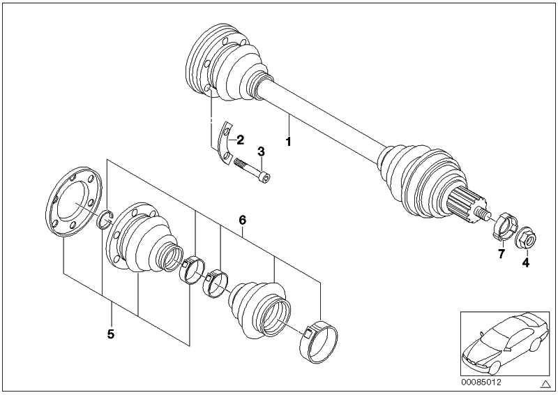 Schraube Aussentorx mit Rippverzahnung M10X43     ZNS3 1er 3er 5er 6er 7er X1 X3 X5 X6 Z1 Z3 Z4  (33207572716)