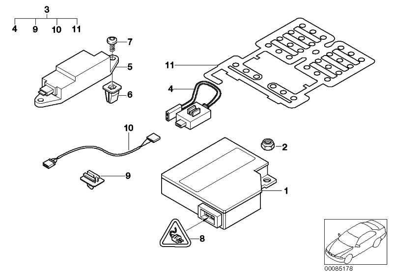 Steuergerät Airbag/Seitenairbag uncod. BOSCH 3er X5  (65779345358)