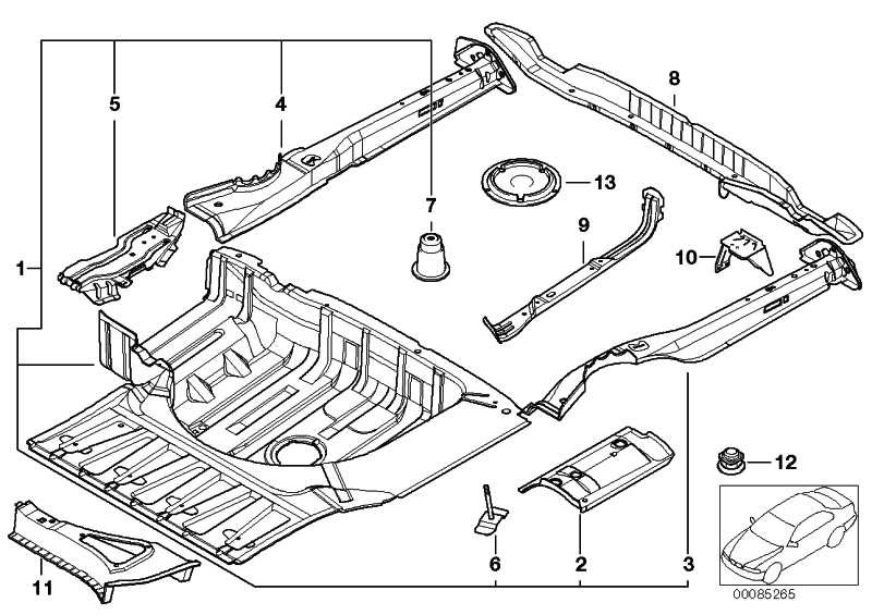 Gepäckraumboden BASIS           5er  (41128209482)