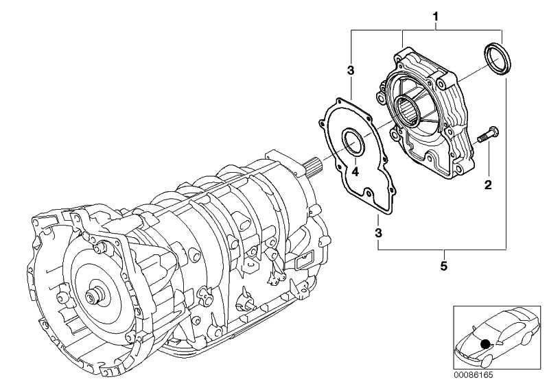 Dichtungssatz Getriebeverlängerung  3er X5 X3  (24137557074)