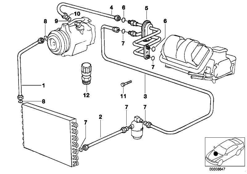 Druckleitung Kondensator-Trockner R12/R134A       5er 7er  (64538390473)