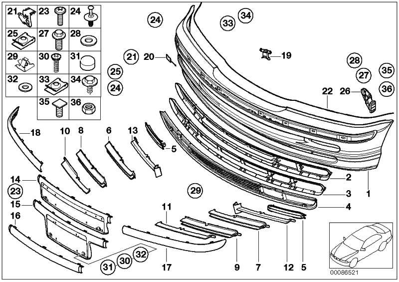 Verkleidung Stossfänger lackiert vorn CODE - UNI/MET. 3er  (51119071063)