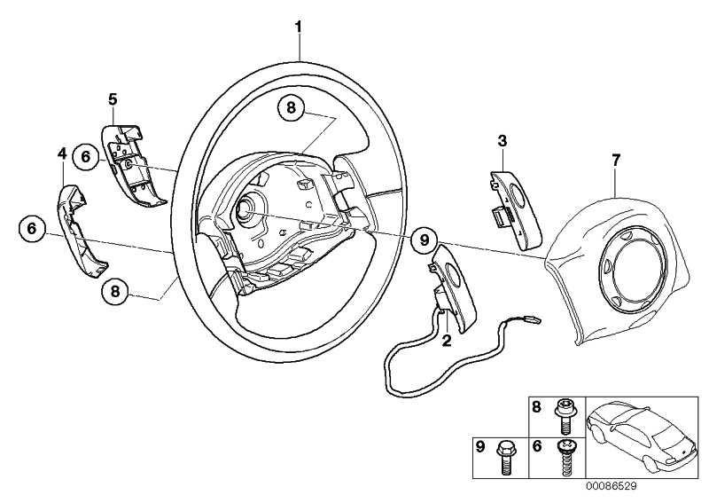 """Lenkrad Leder Airbag """"Cooper S"""" SCHWARZ/GRAU    MINI  (32336770335)"""