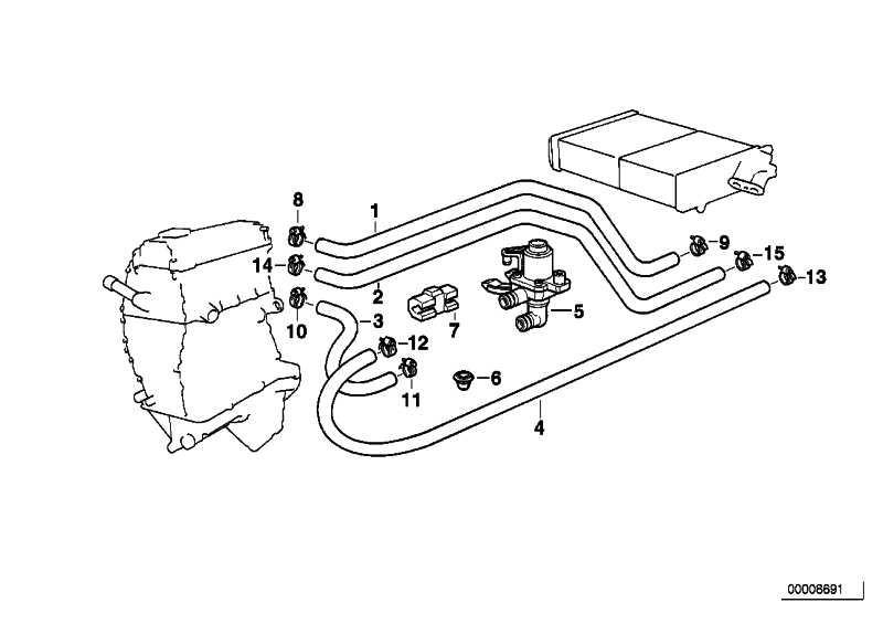 Schlauch Motorvorlauf-Heizkörper  3er  (64218390212)