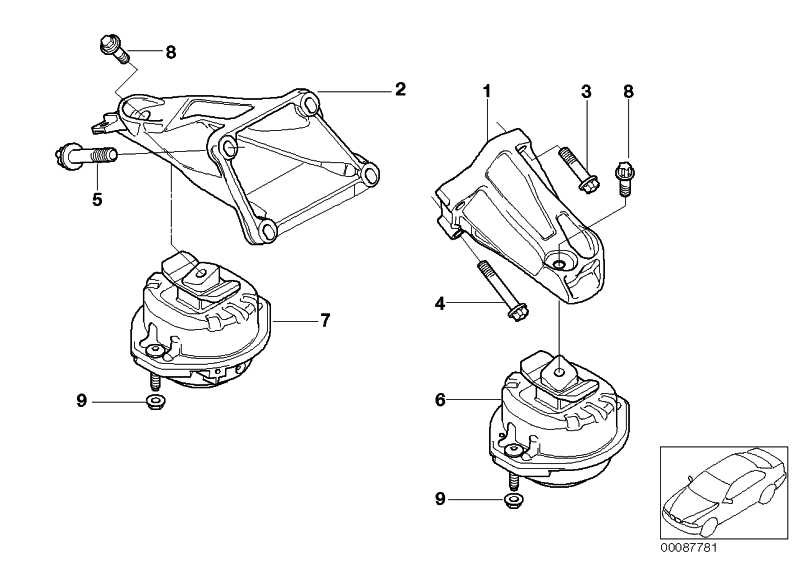 Schraube Aussentorx M10X40-Z1-10.9 1er 2er 3er 4er 5er 6er 7er X1 X3 X5 X6 Z4 MINI  (07129903976)