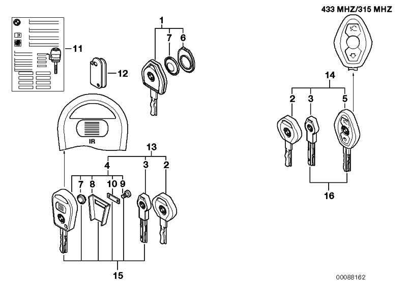 Hinweisschild Key Memory  3er 5er 6er 7er X3 X5 Z4 Z8  (71236906390)