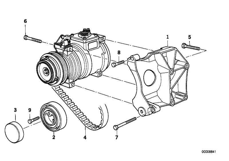 Lagerbock Klimakompressor  3er Z3  (64551739627)