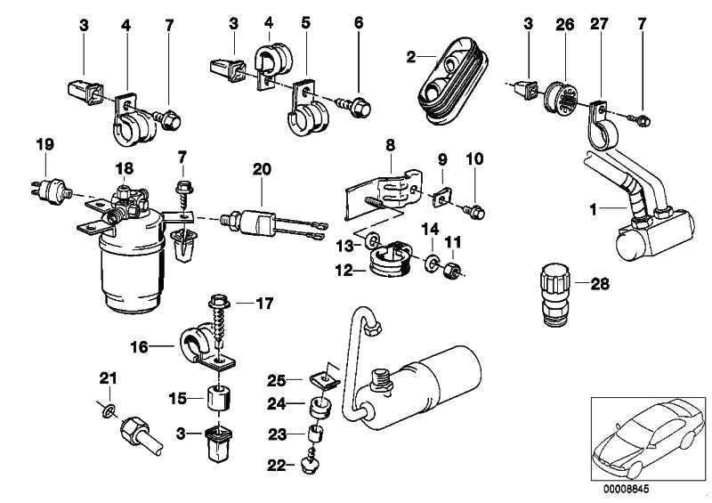 Sicherheitsdruckschalter R12/R134A       3er  (64538390971)