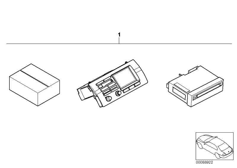 DVD-Navigation mit Bordmonitor WIDE SCREEN     X5  (65900302343)